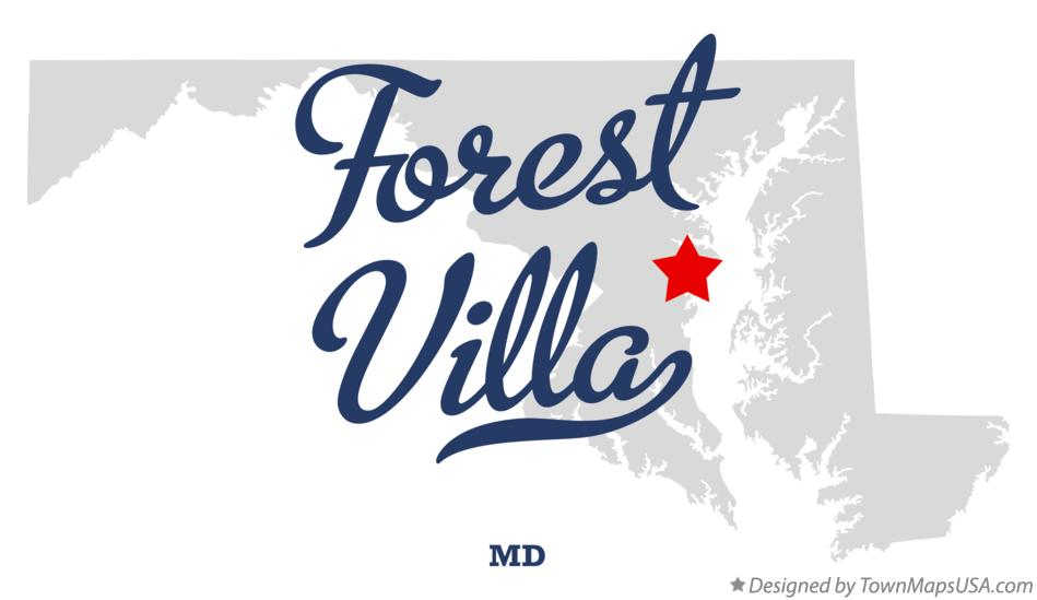 Map of Forest Villa Maryland MD