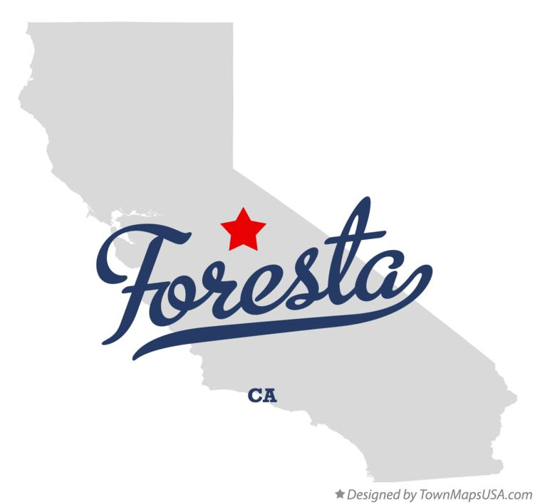 Map of Foresta California CA