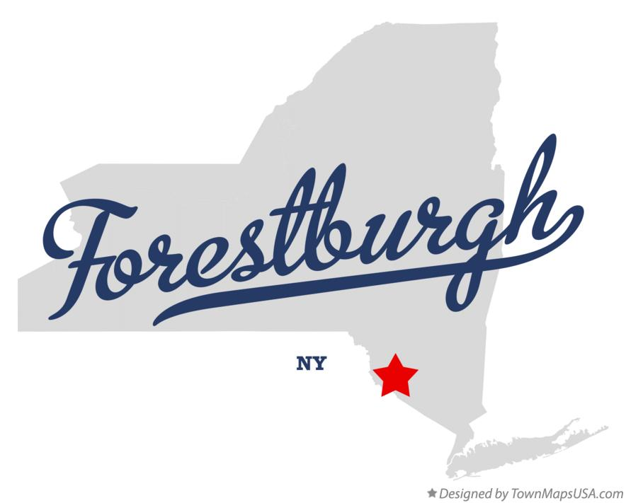 Map of Forestburgh New York NY