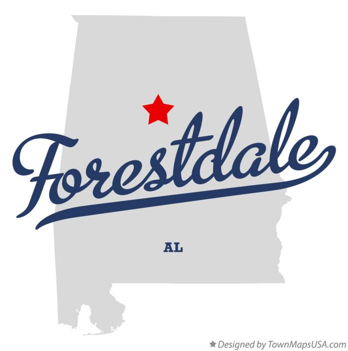 Map of Forestdale Alabama AL