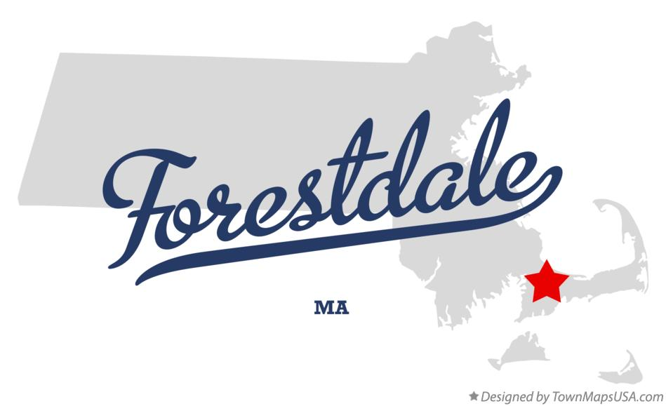 Map of Forestdale Massachusetts MA
