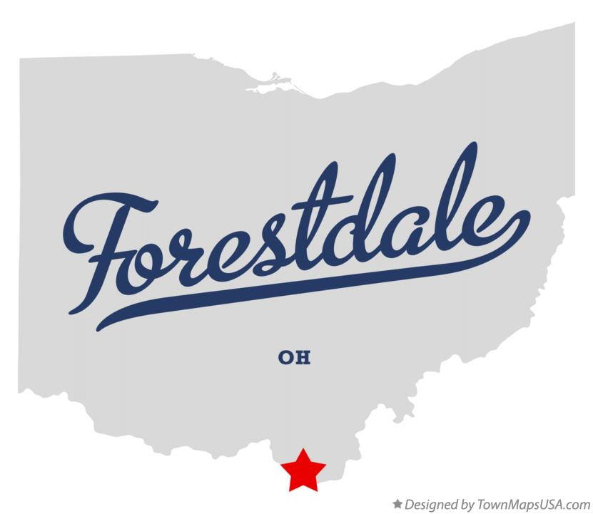 Map of Forestdale Ohio OH