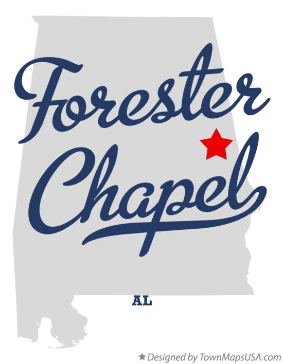 Map of Forester Chapel Alabama AL