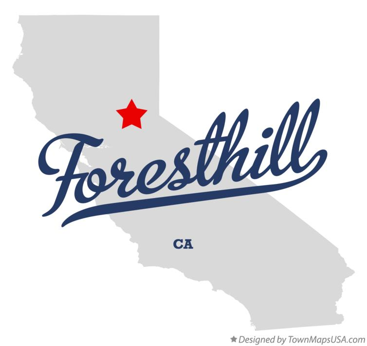 Map of Foresthill California CA