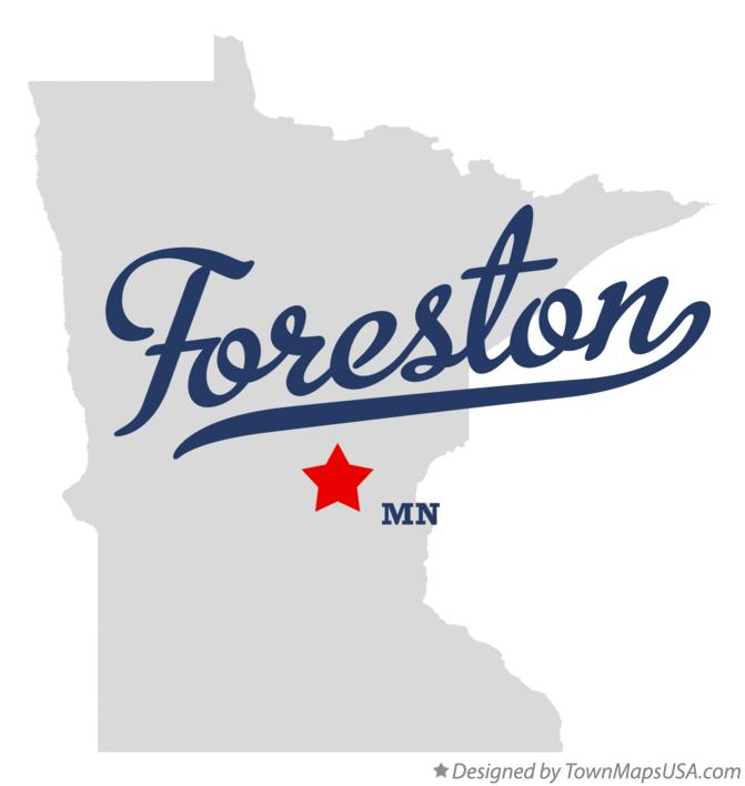 Map of Foreston Minnesota MN