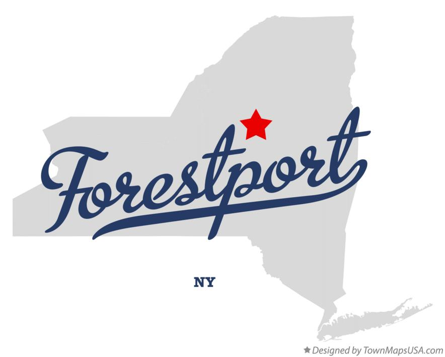 Map of Forestport New York NY