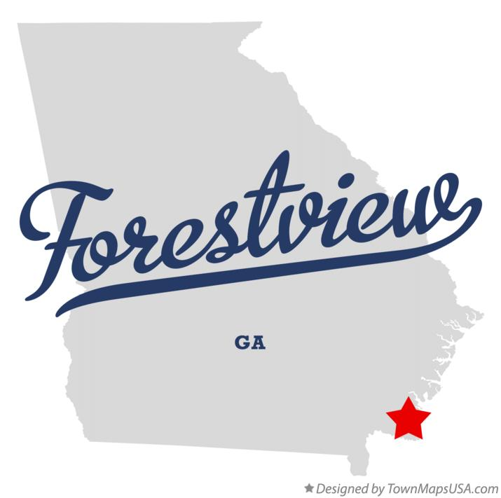 Map of Forestview Georgia GA