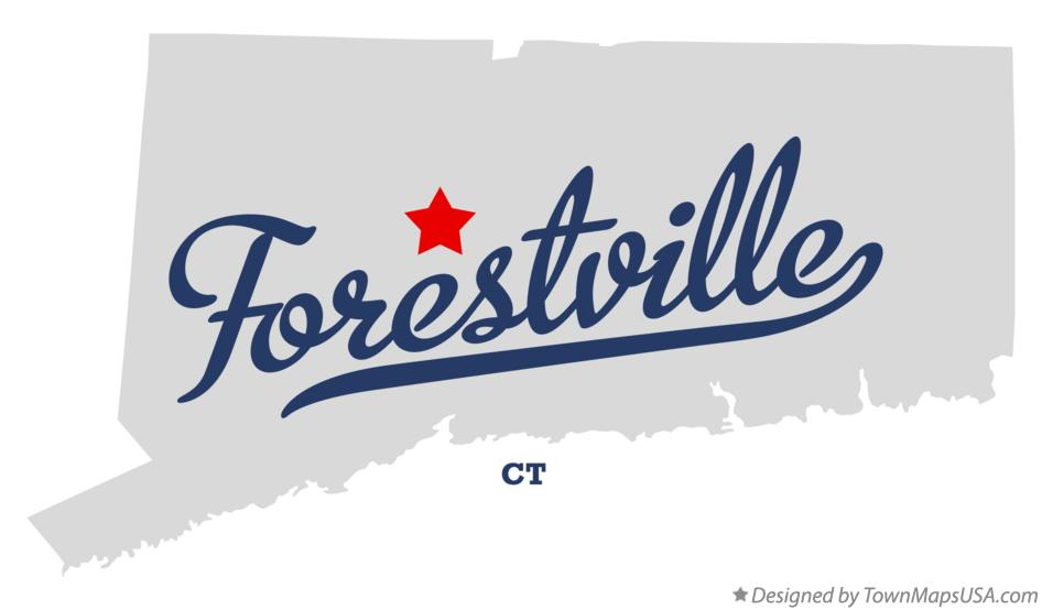 Map of Forestville Connecticut CT