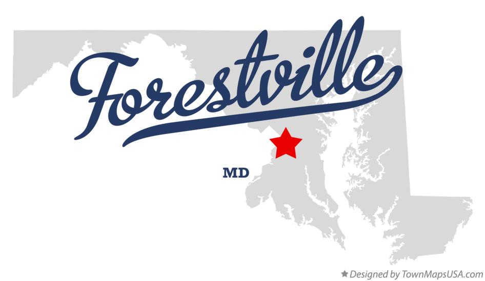 Map of Forestville Maryland MD