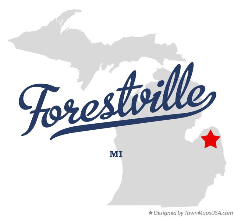 Map of Forestville Michigan MI