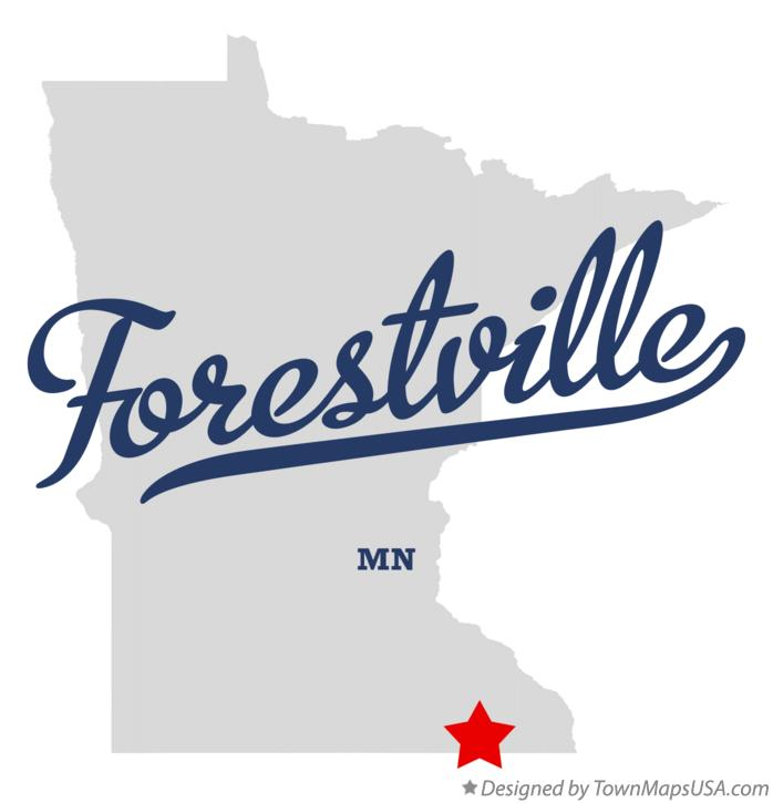 Map of Forestville Minnesota MN