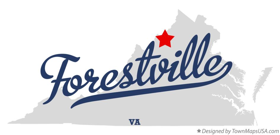 Map of Forestville Virginia VA