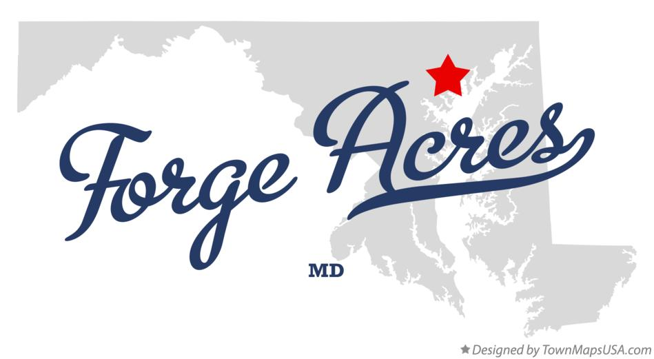 Map of Forge Acres Maryland MD