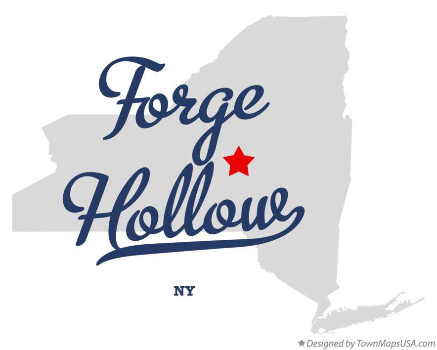 Map of Forge Hollow New York NY