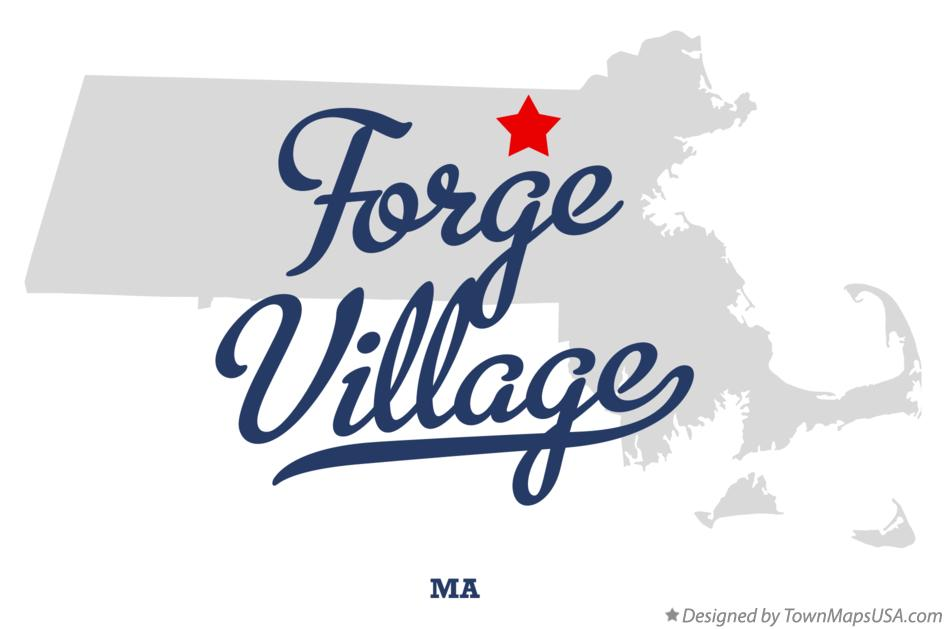 Map of Forge Village Massachusetts MA
