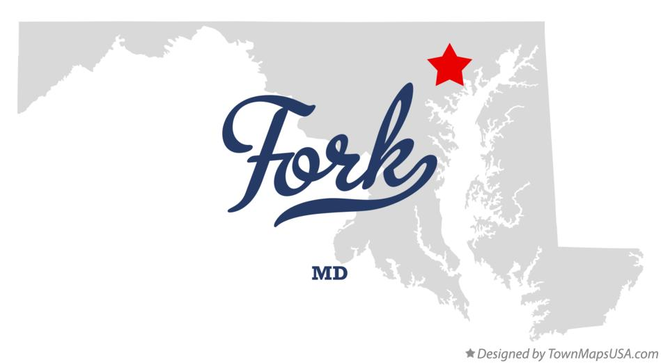 Map of Fork Maryland MD