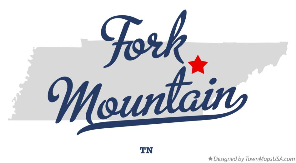 Map of Fork Mountain Tennessee TN