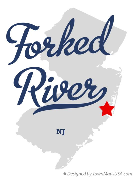 Map of Forked River New Jersey NJ