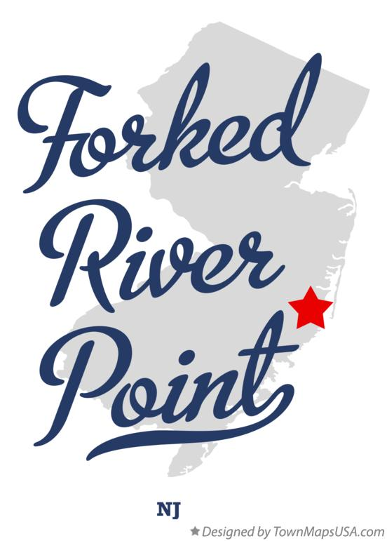 Map of Forked River Point New Jersey NJ