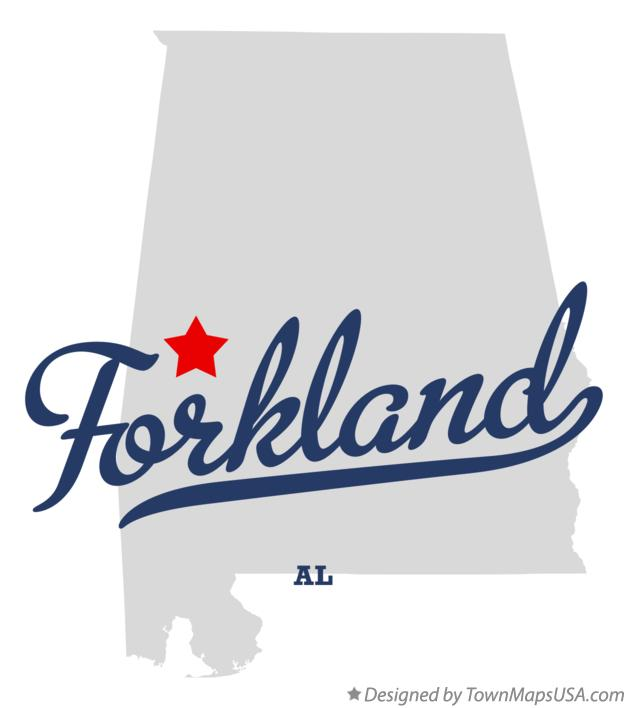 Map of Forkland Alabama AL