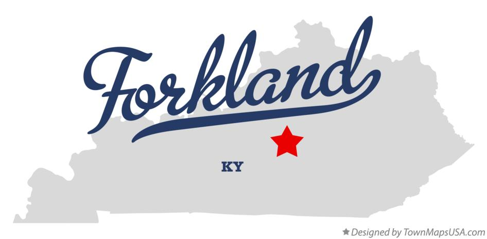 Map of Forkland Kentucky KY