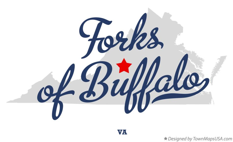 Map of Forks of Buffalo Virginia VA