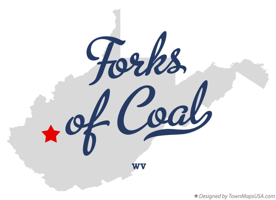 Map of Forks of Coal West Virginia WV