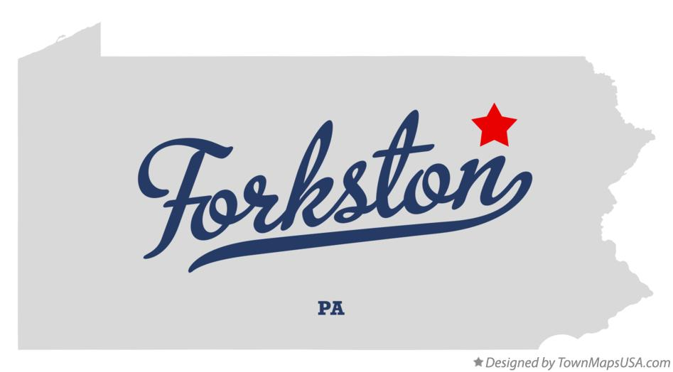 Map of Forkston Pennsylvania PA
