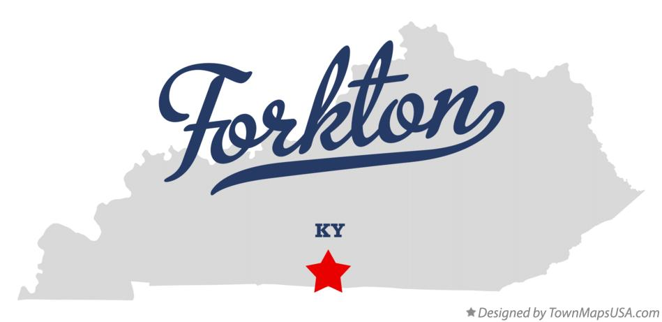 Map of Forkton Kentucky KY