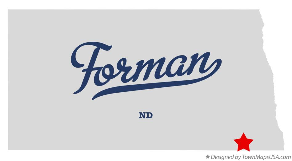 Map of Forman North Dakota ND