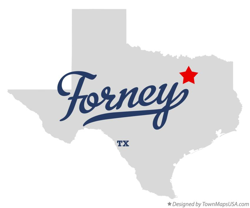 Map of Forney Texas TX