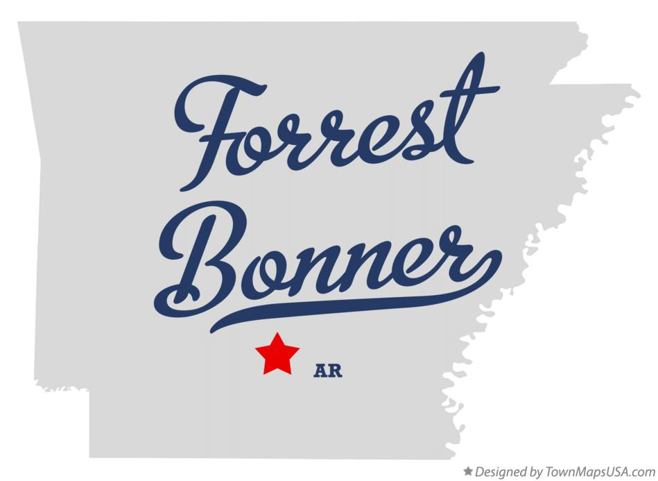 Map of Forrest Bonner Arkansas AR