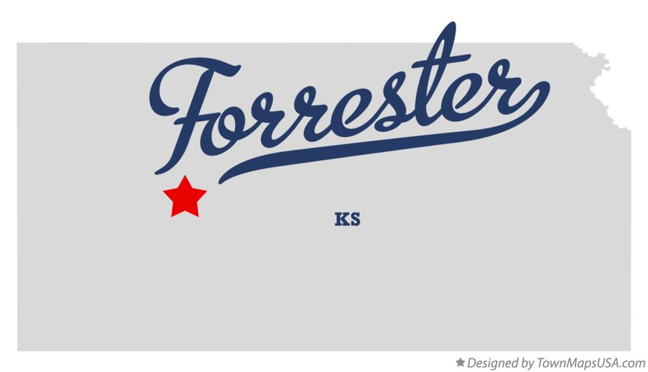 Map of Forrester Kansas KS