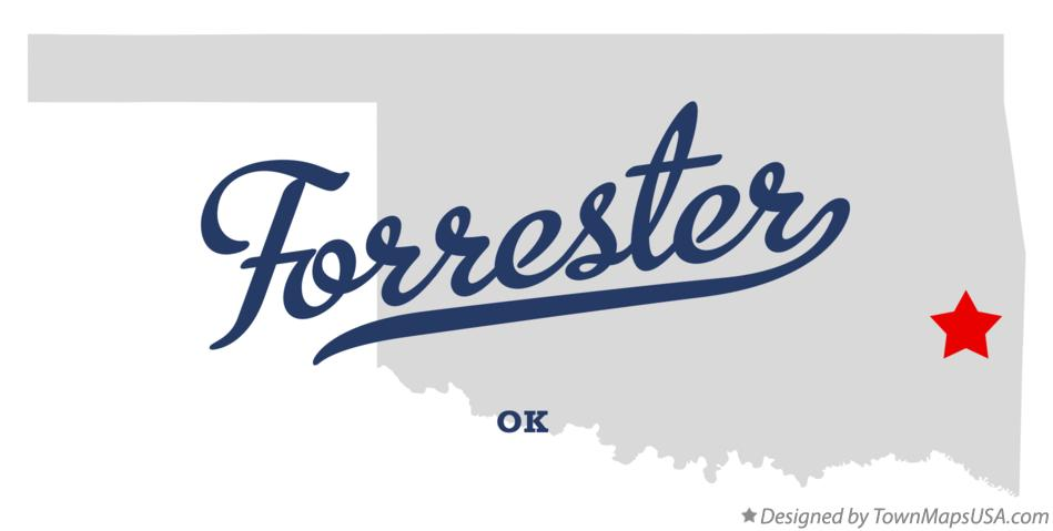 Map of Forrester Oklahoma OK