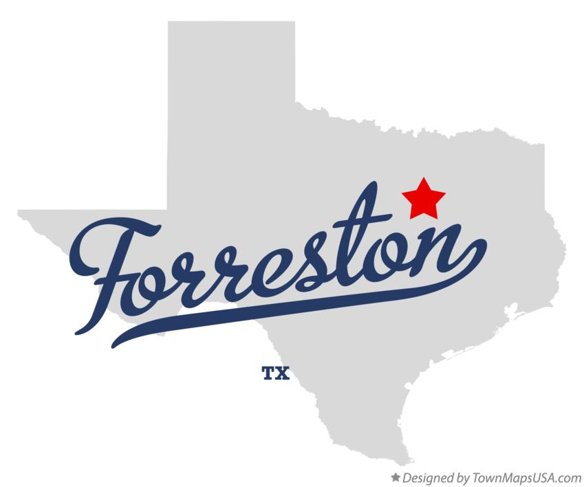 Map of Forreston Texas TX