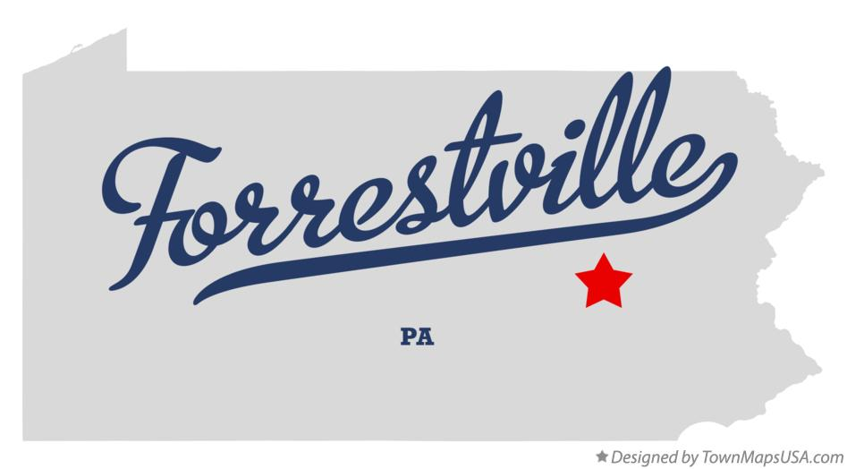 Map of Forrestville Pennsylvania PA