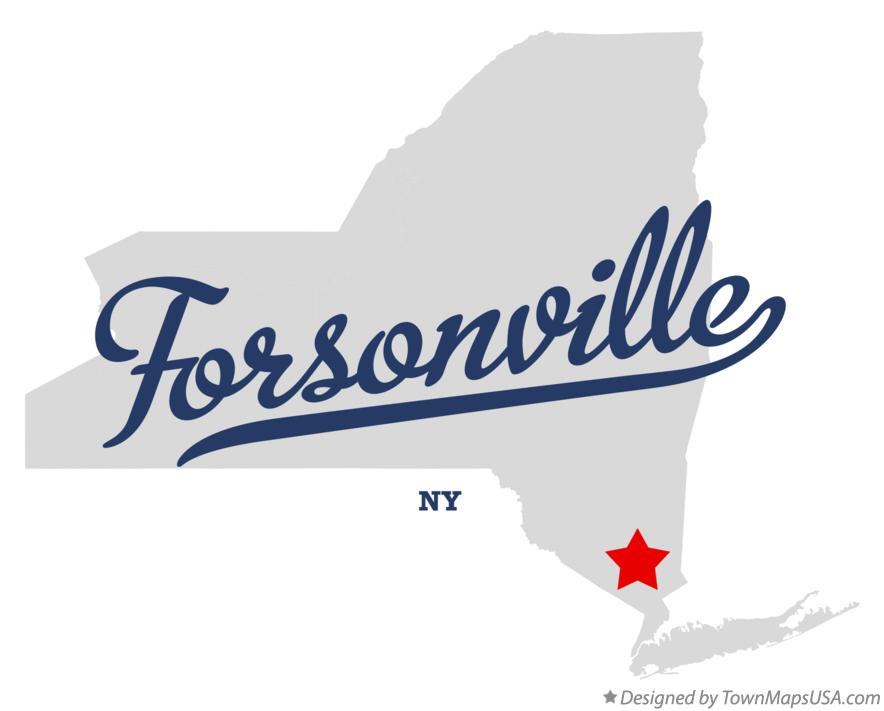 Map of Forsonville New York NY
