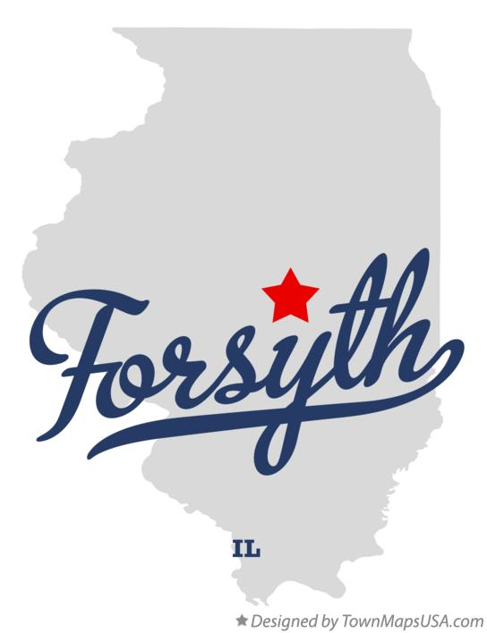 Map of Forsyth Illinois IL