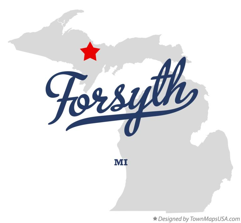 Map of Forsyth Michigan MI