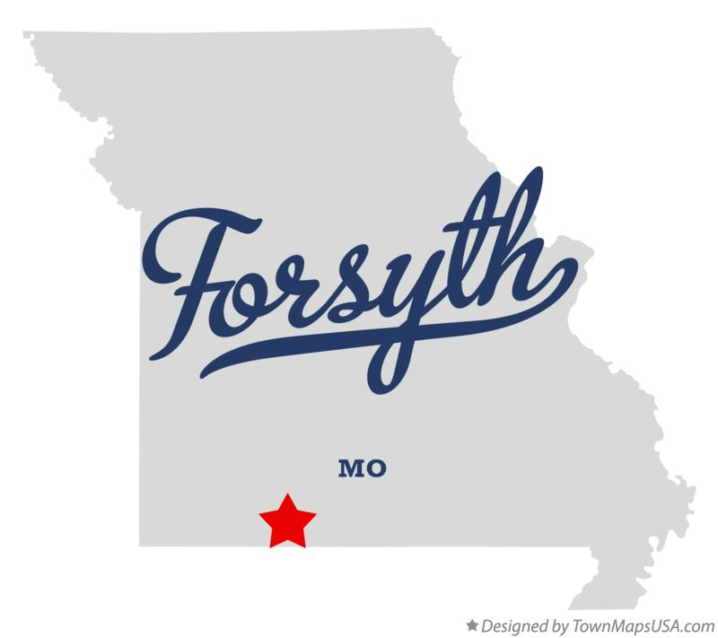 Map of Forsyth Missouri MO