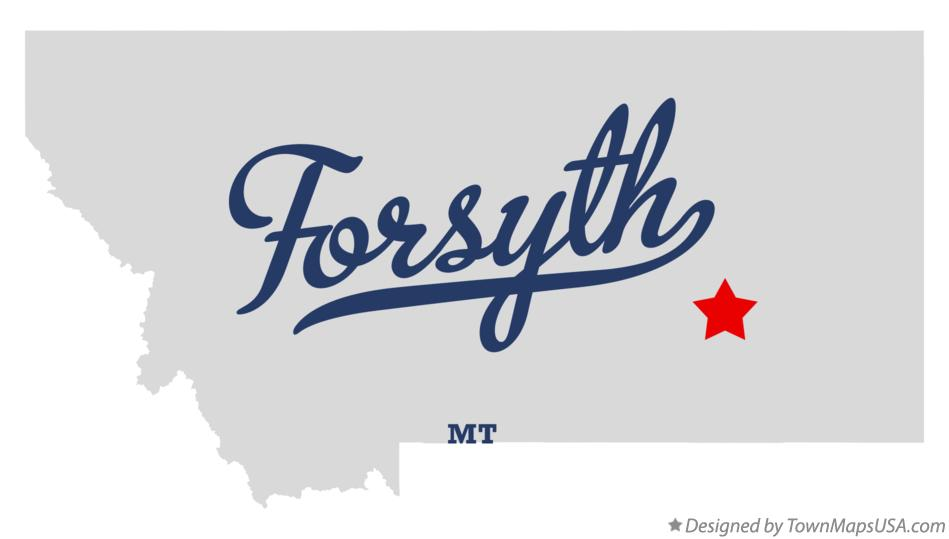 Map of Forsyth Montana MT
