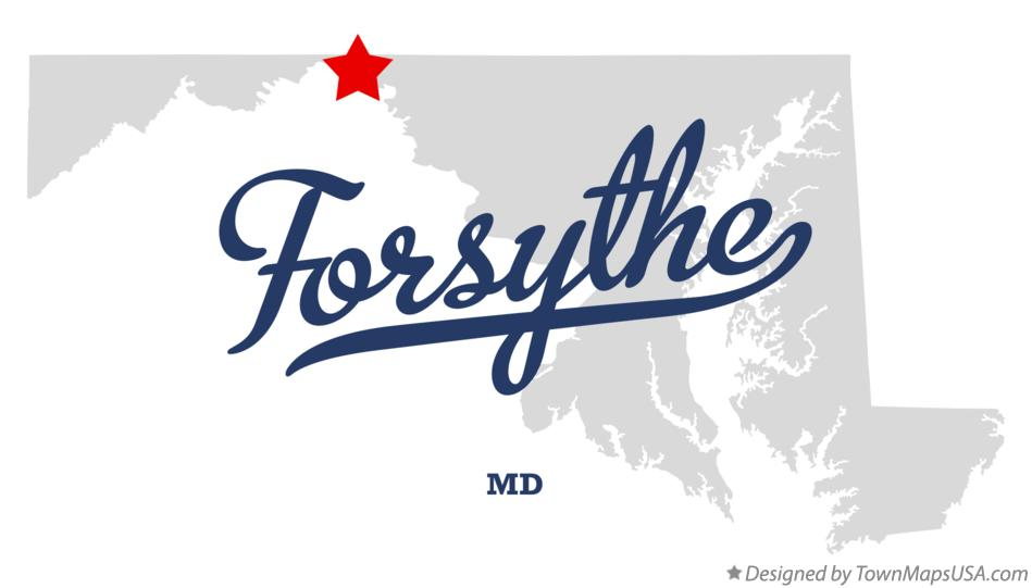 Map of Forsythe Maryland MD