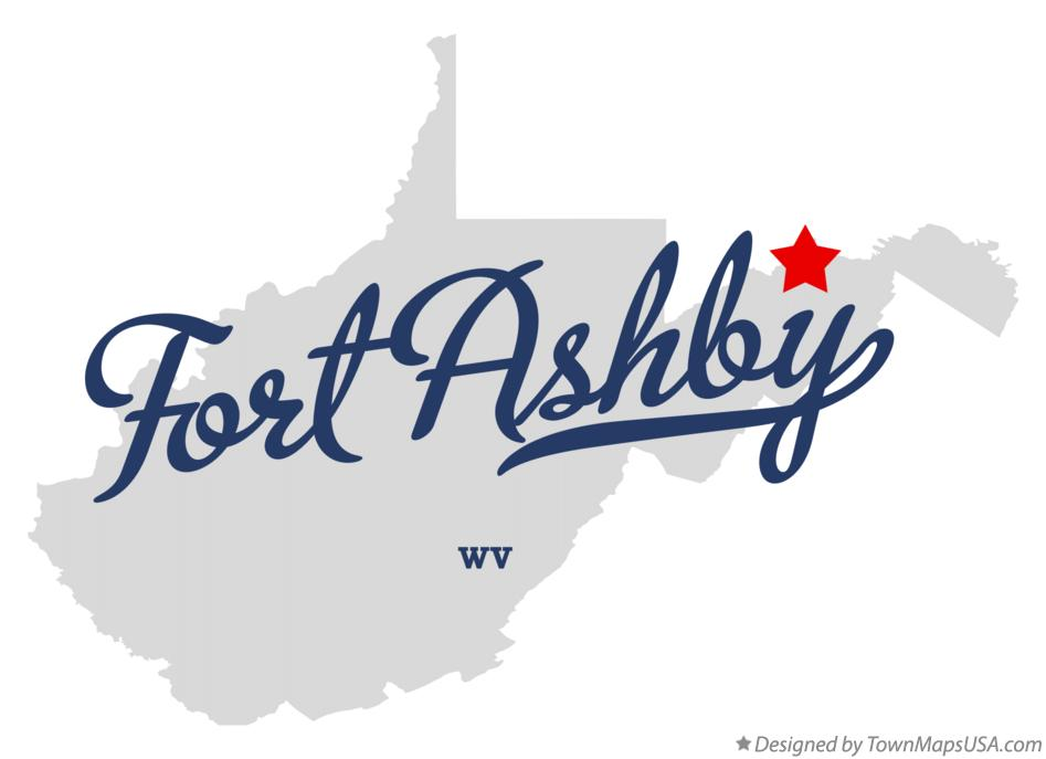 Map of Fort Ashby West Virginia WV