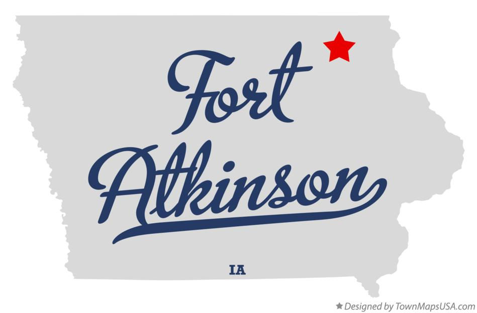 Map of Fort Atkinson Iowa IA