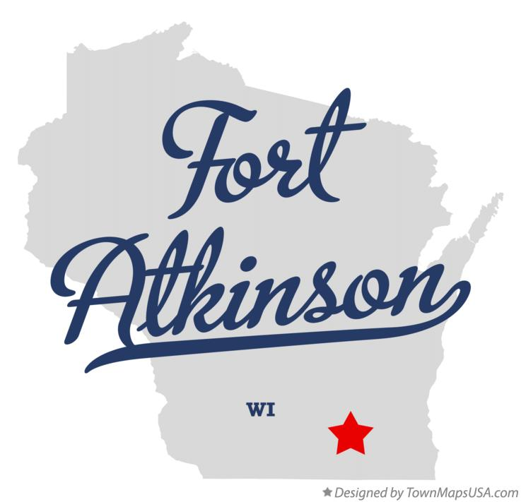 Map of Fort Atkinson Wisconsin WI