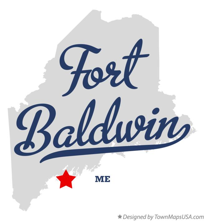 Map of Fort Baldwin Maine ME