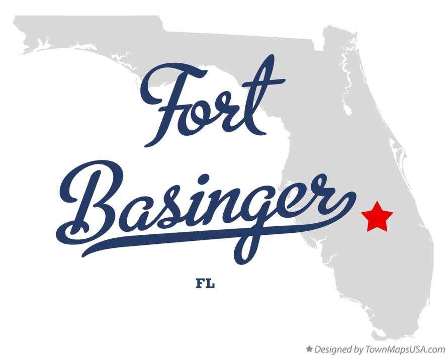 Map of Fort Basinger Florida FL