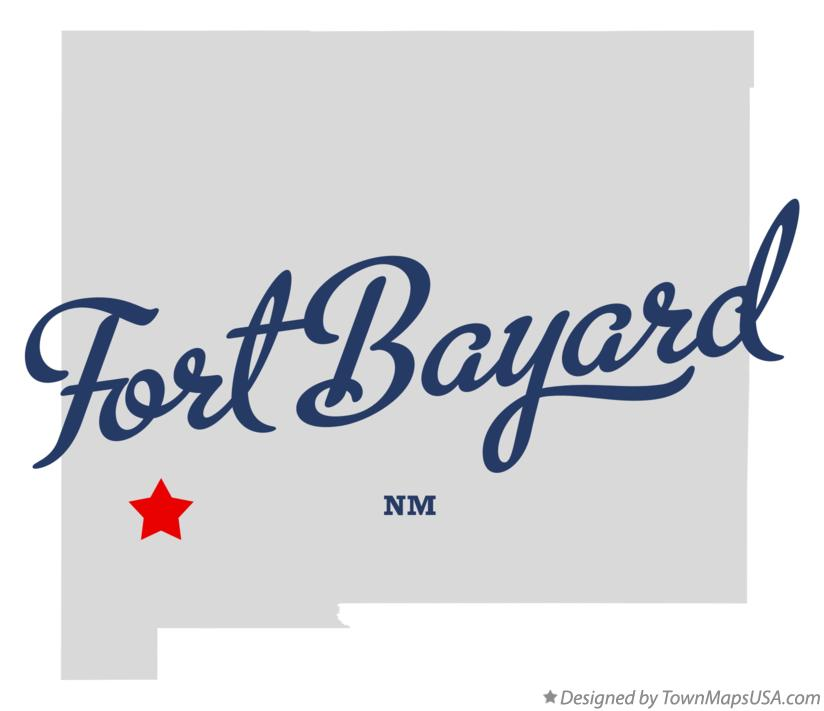 Map of Fort Bayard New Mexico NM