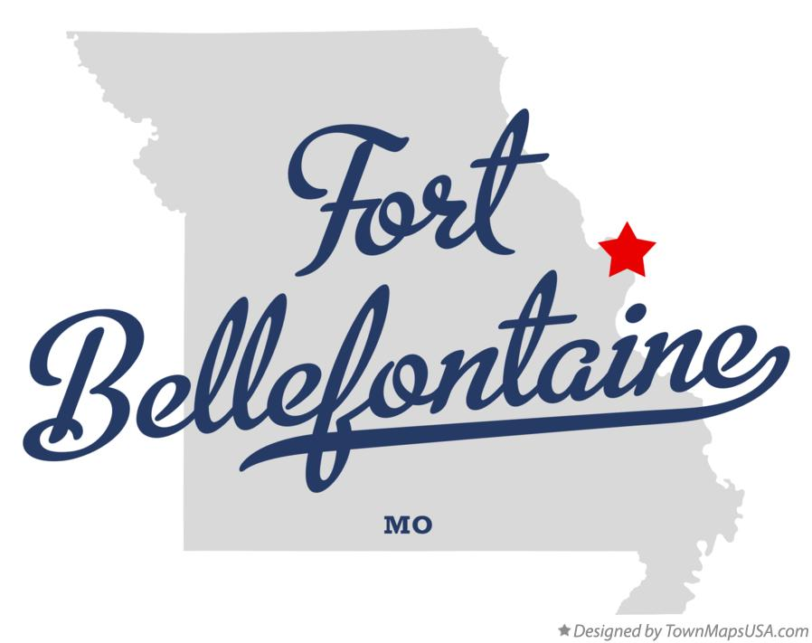 Map of Fort Bellefontaine Missouri MO