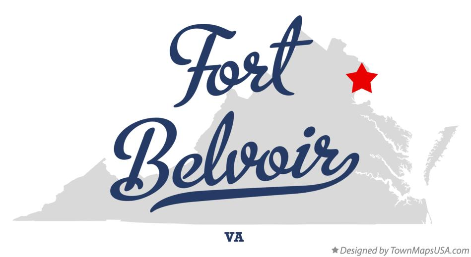 Map of Fort Belvoir Virginia VA